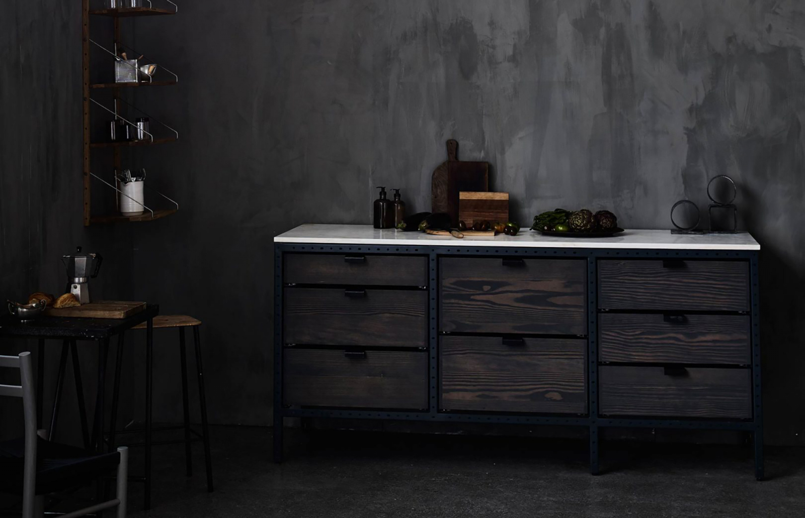 The kitchen is available in Raw and Ash finish.