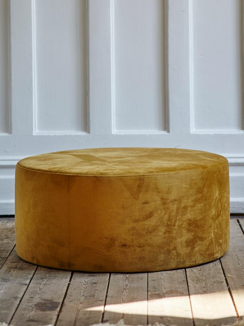 Round Pouf Mustard