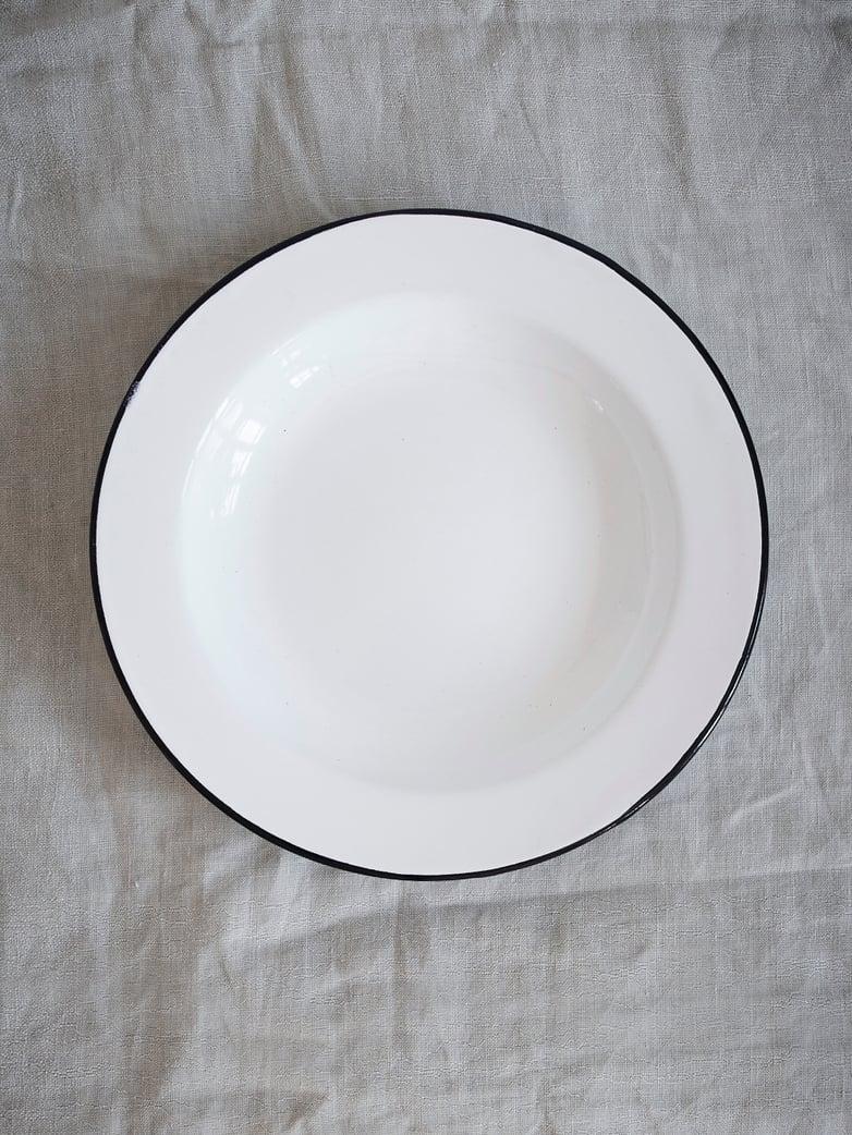 Enamel Soup Plate