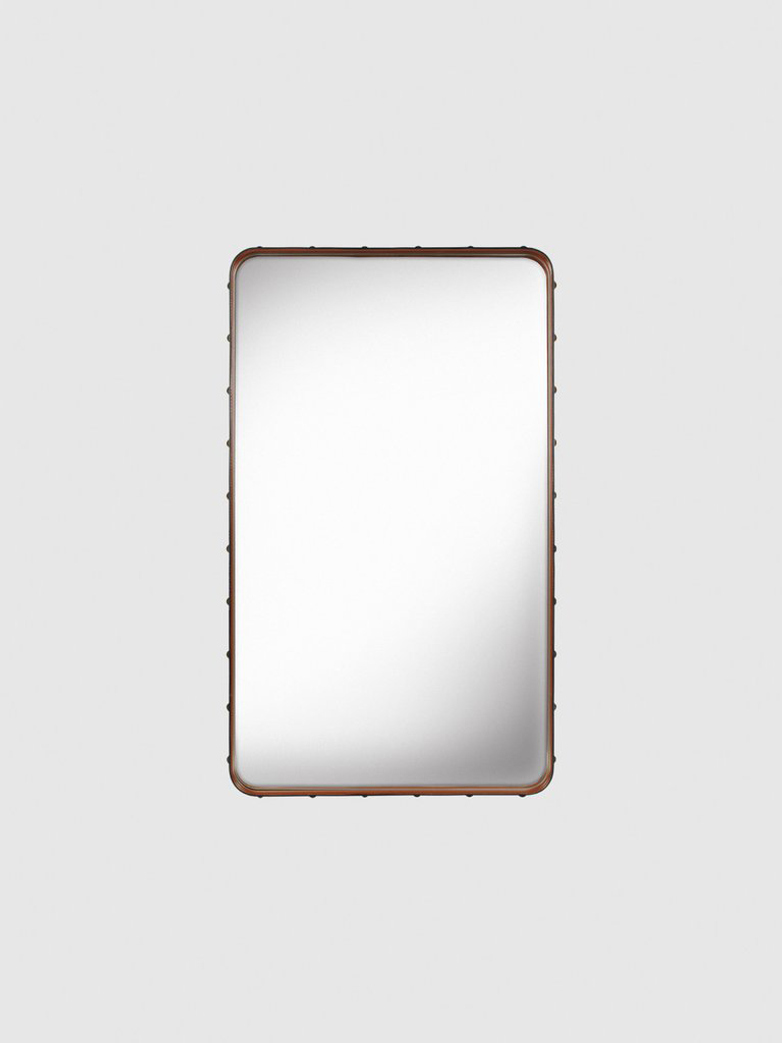 Adnet Rectangular Mirror Tan - 65x115cm