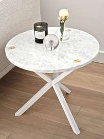 Round Side Table Marble