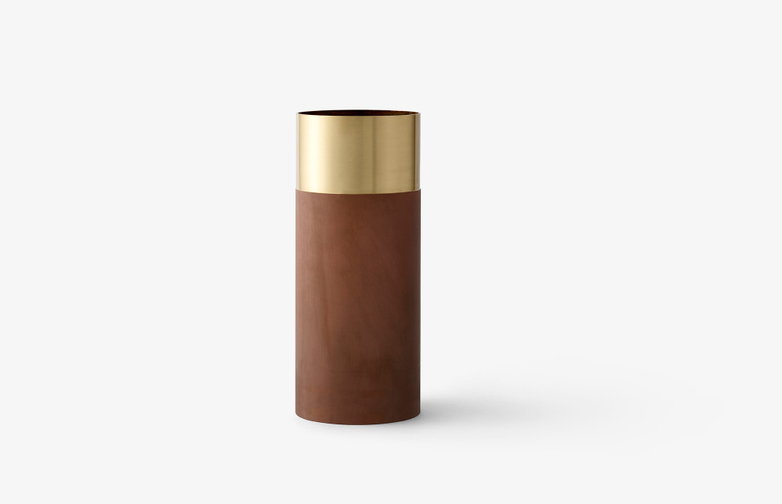 True Colour Vase Terracotta - Brass