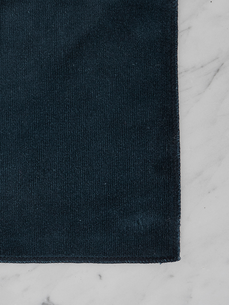 190 cm - Smooth Velvet Navy - Fixed cover