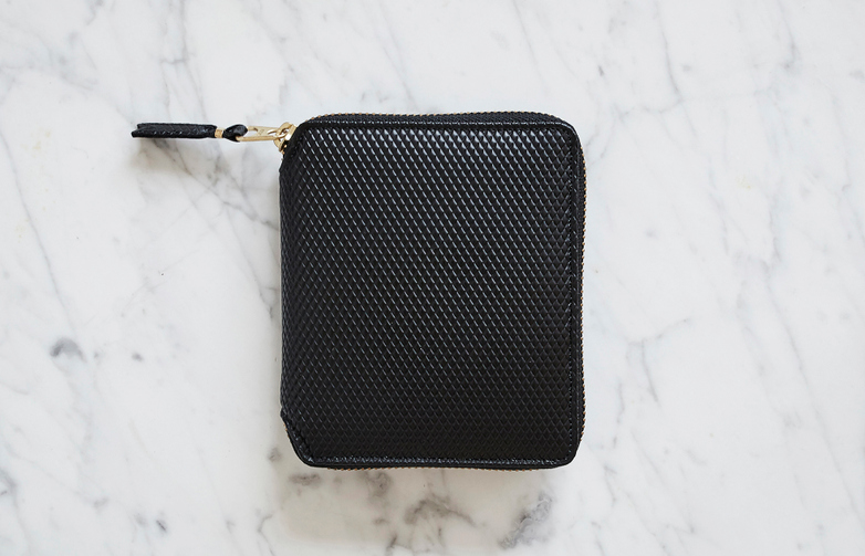 Luxury Zip Around Wallet Black