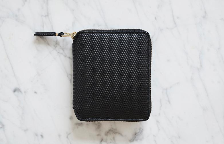 Luxury Zip Around Wallet Black