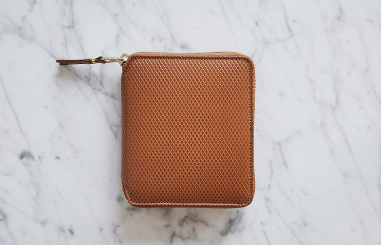 Luxury Zip Around Wallet Beige