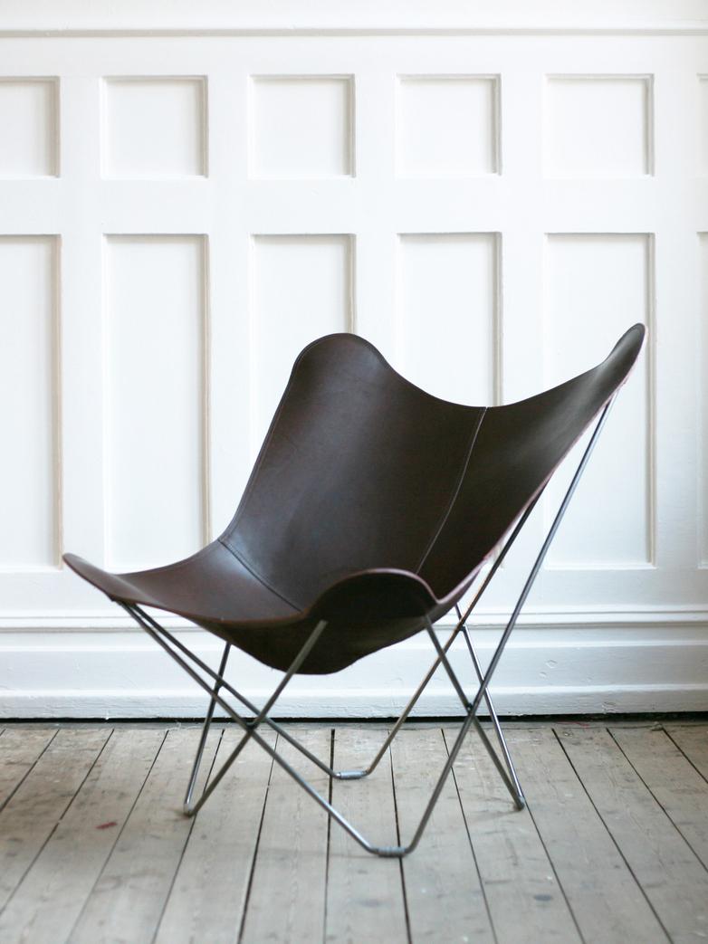 Chocolate Leather - Matte Chrome Frame