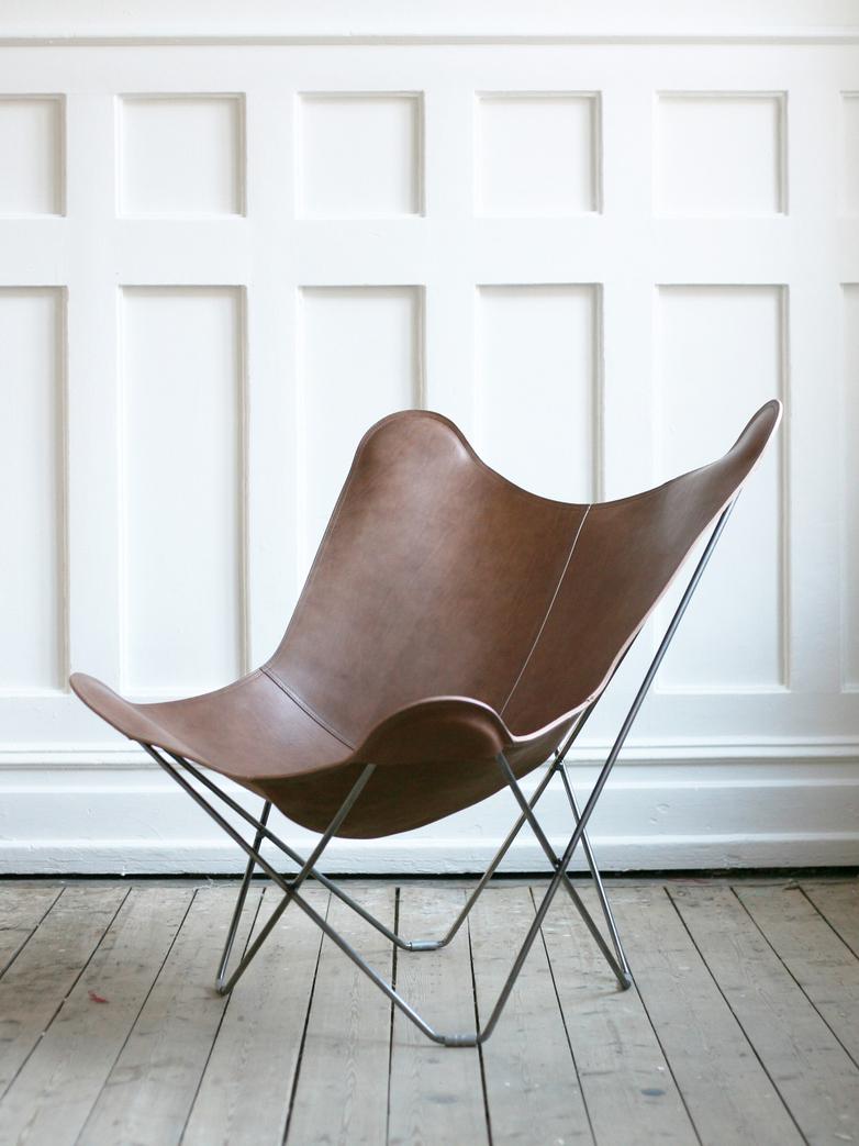 Montana Leather - Matte Chrome Frame
