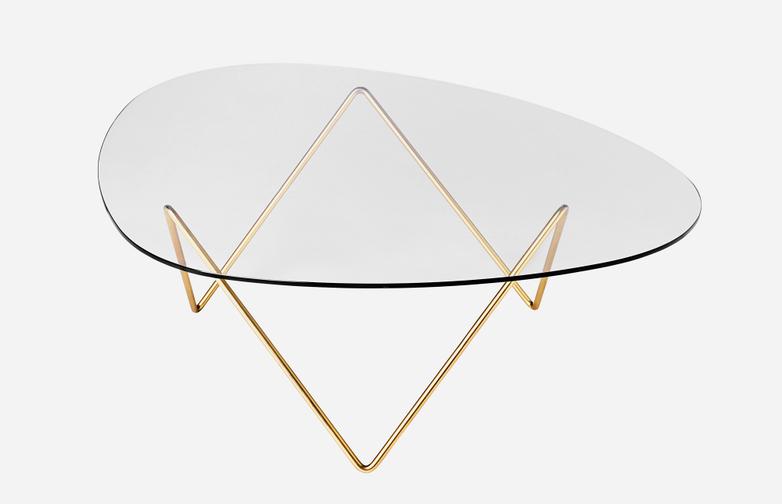 Pedrera Table Brass