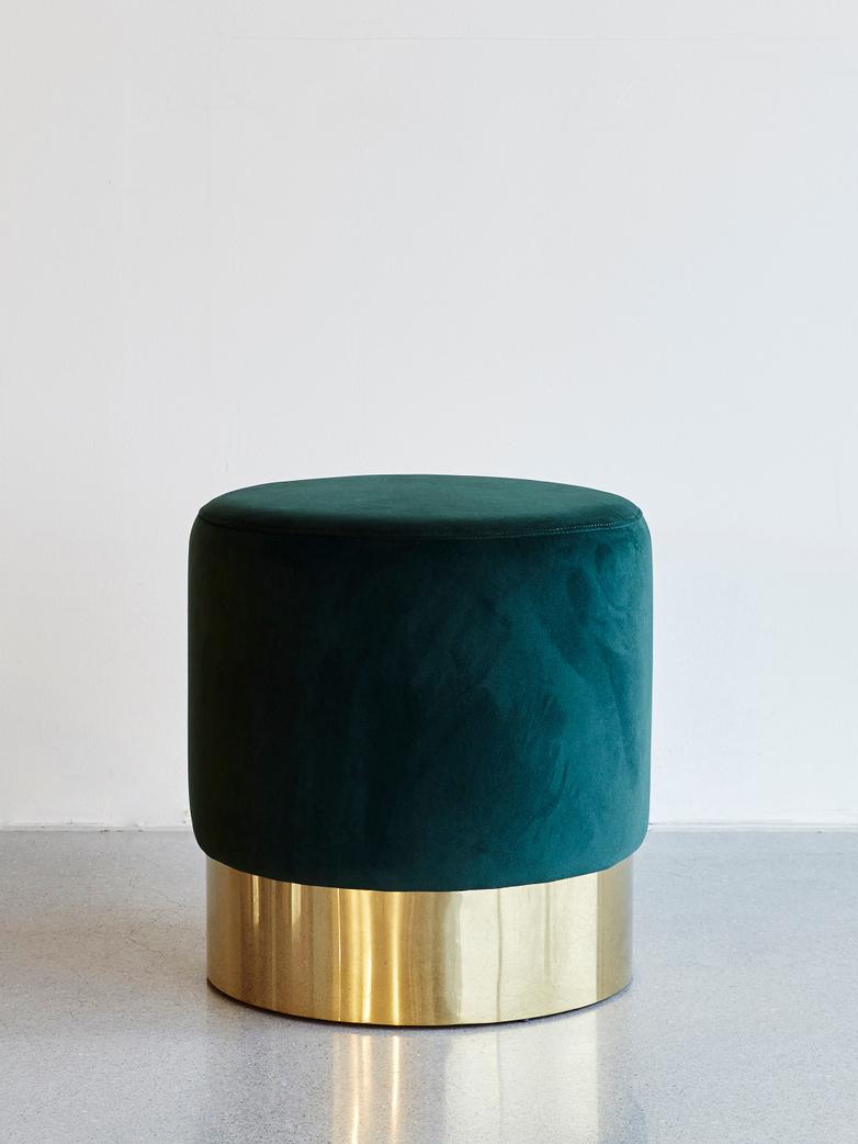 Velvet Stool Green