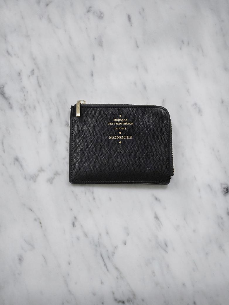 Delfonics Half Zip Wallet - Black