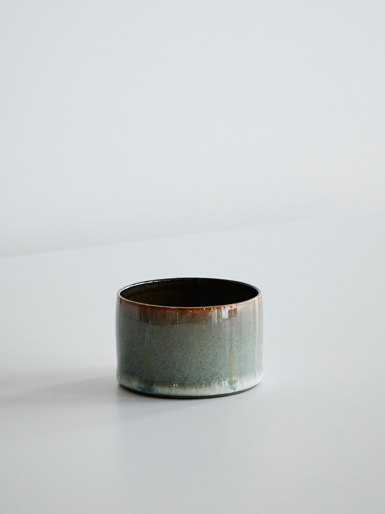Goblet Cylinder Low - Smokey Blue