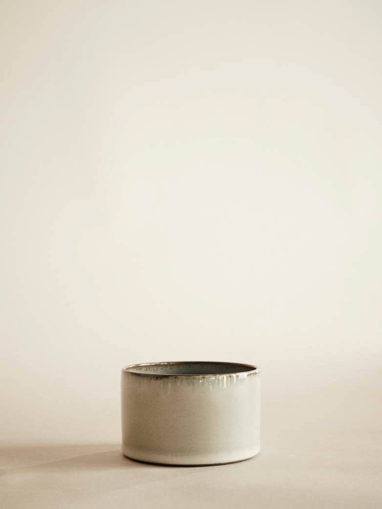 Goblet Cylinder Low - Misty Grey