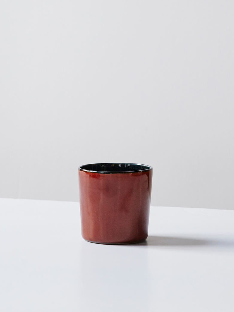 Goblet Cylinder High - Rust Dark Blue