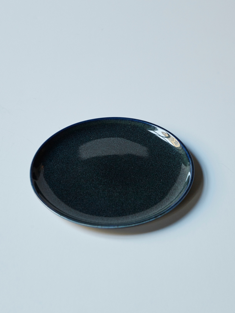 Plate Small Dark Blue