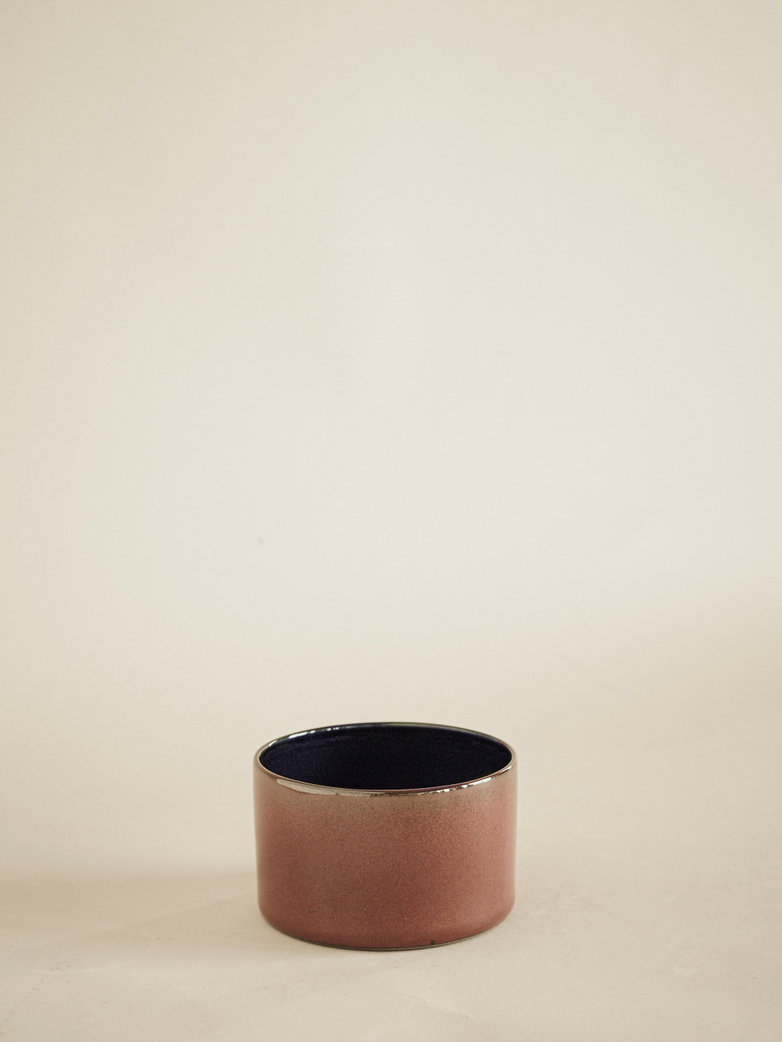 Goblet Cylinder Low – Rust / Dark Blue
