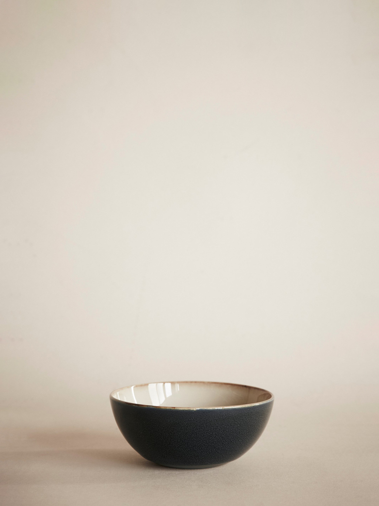 Terres de Rêves – Bowl – Small – Misty Grey/Dark Blue