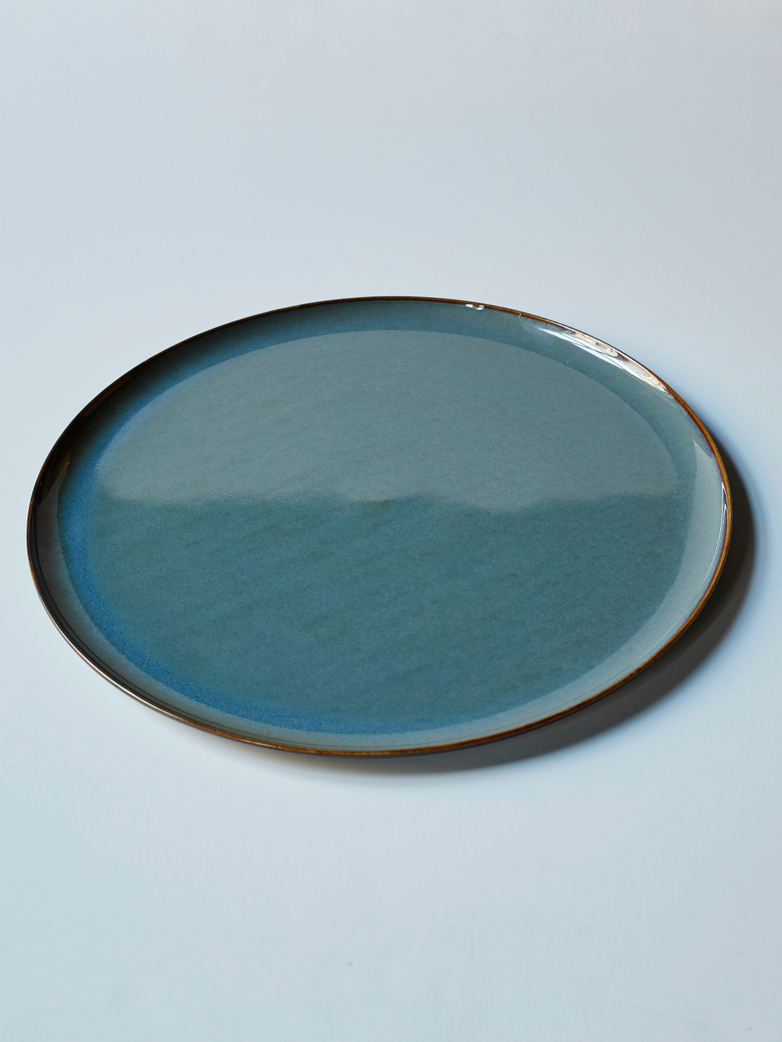 Terres de Rêves - Plate Large Smokey Blue