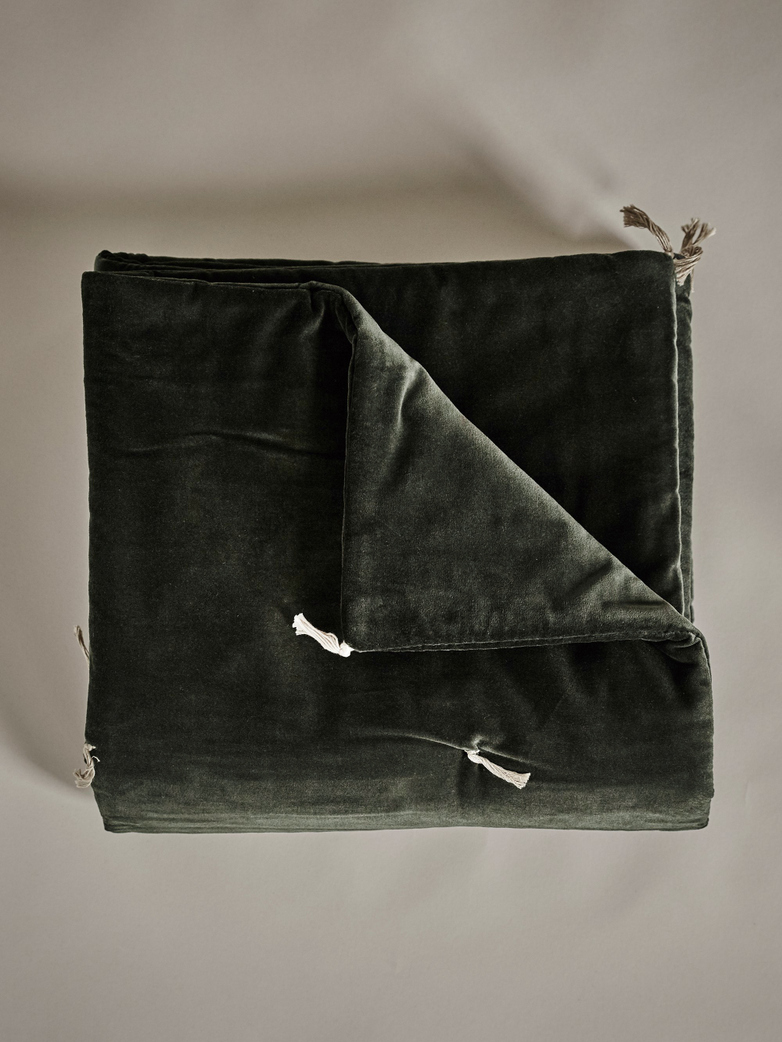 Velvet Sofacover – Carbone Dark Green