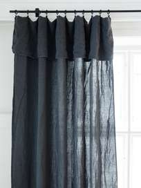 Selena Washed Linen Curtain Plomb 180x290
