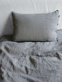 Selena Washed Linen Bed Set Alu