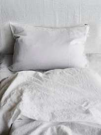 Selena Washed Linen Bed Set Neige