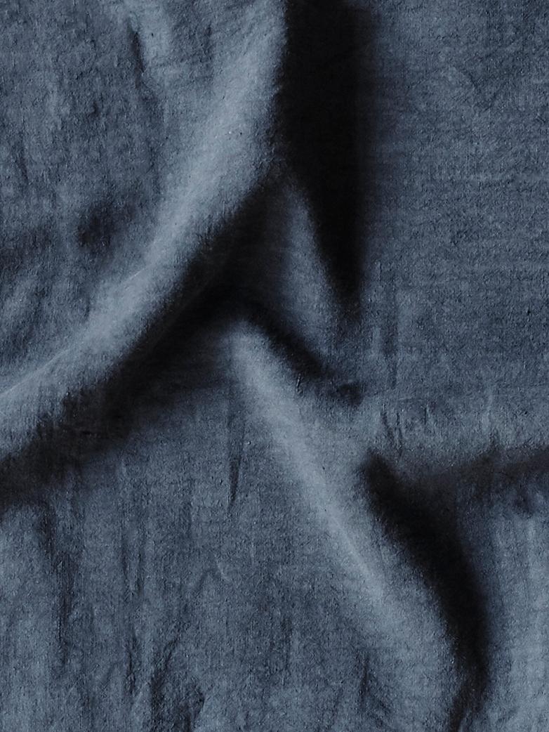 Washed Linen Flat Sheet Plomb 270 x 320
