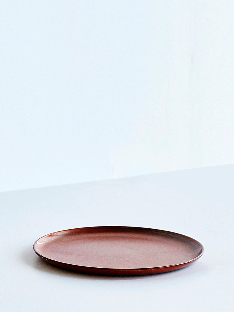 Terres de Rêves - Plate Medium - Rust