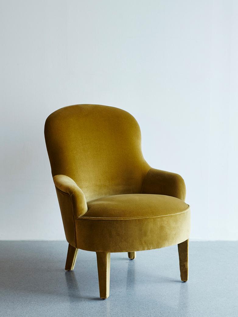 Velvet Olive Armchair