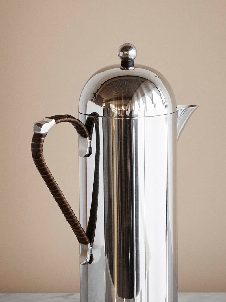 Domus Coffee Pot With Wicker Handle