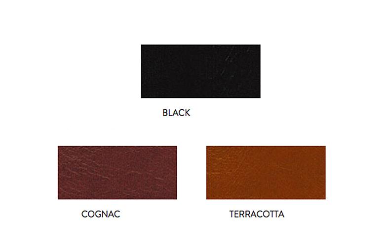 Cognac leather - Black powdered frame