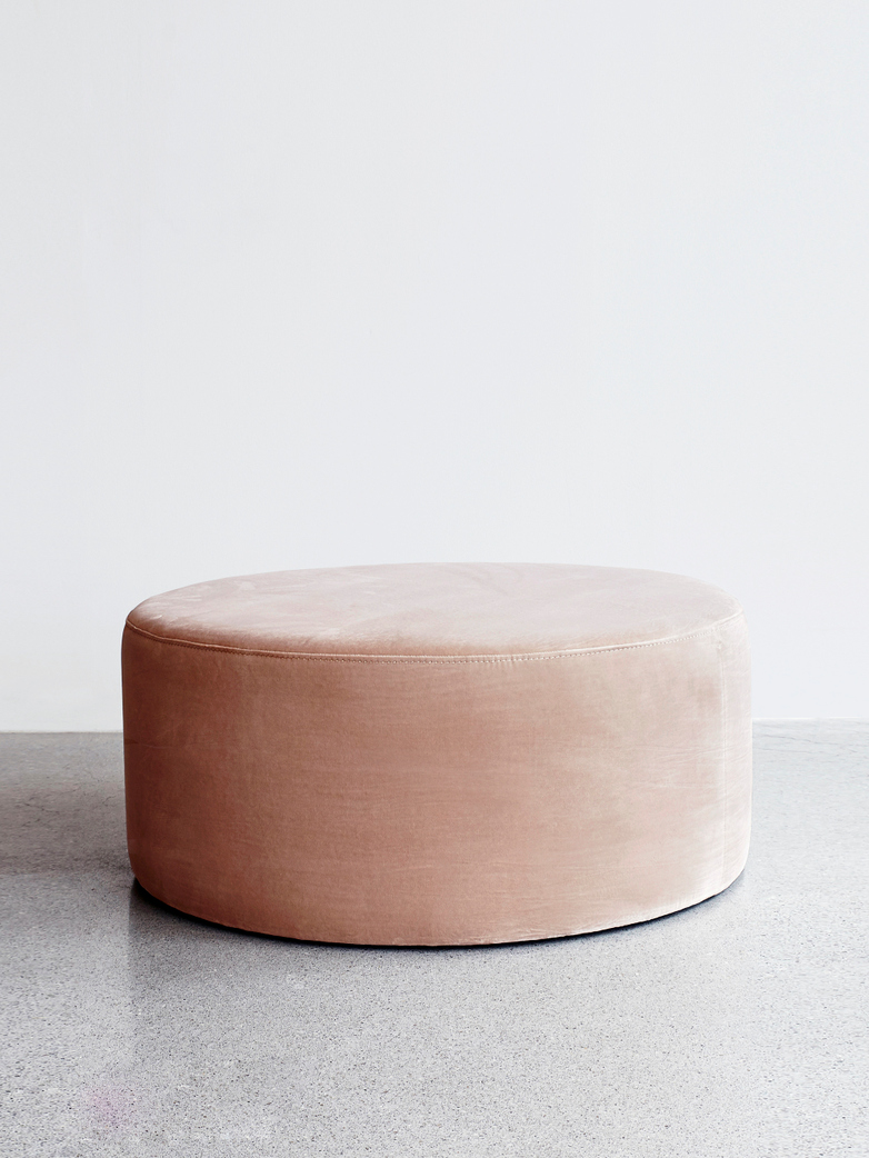Round Pouf Cream