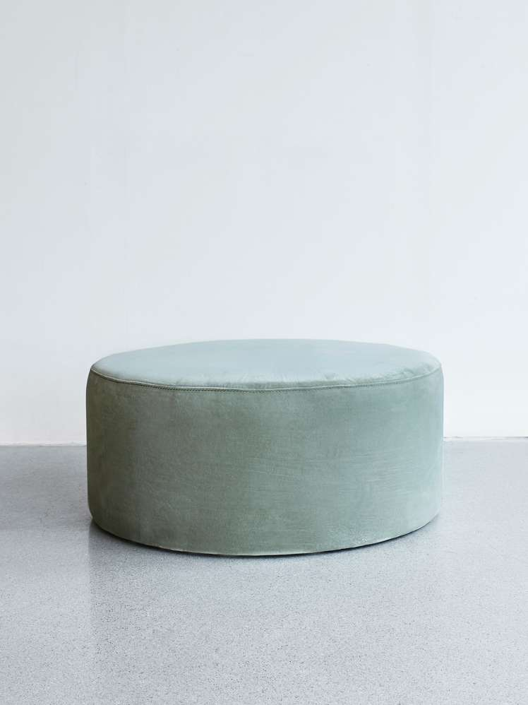 Round Pouf Light Green