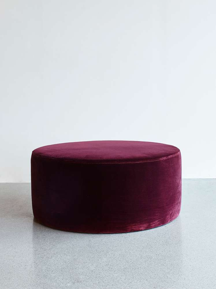 Round Pouf Light Purple