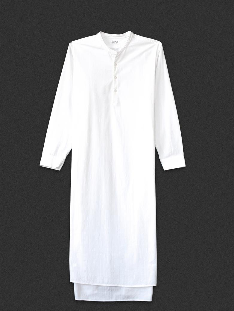 Granddad Shirt White