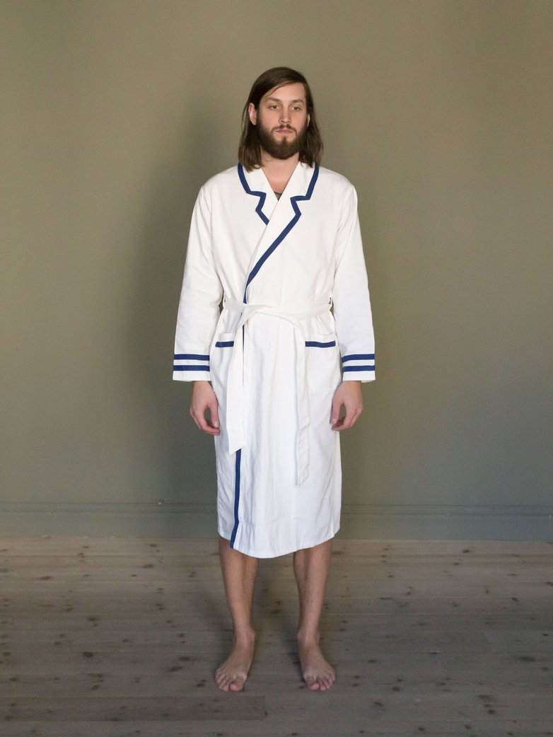 Deck Gown White/Blue