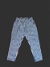 Button Trousers Thick Waves Blue/Grey