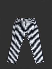 Button Trousers Thick Waves Black/Grey