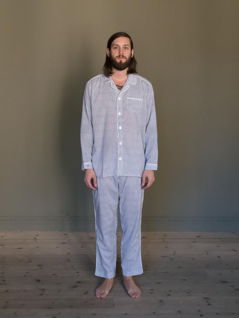 Pyjama Thin Waves White/Blue
