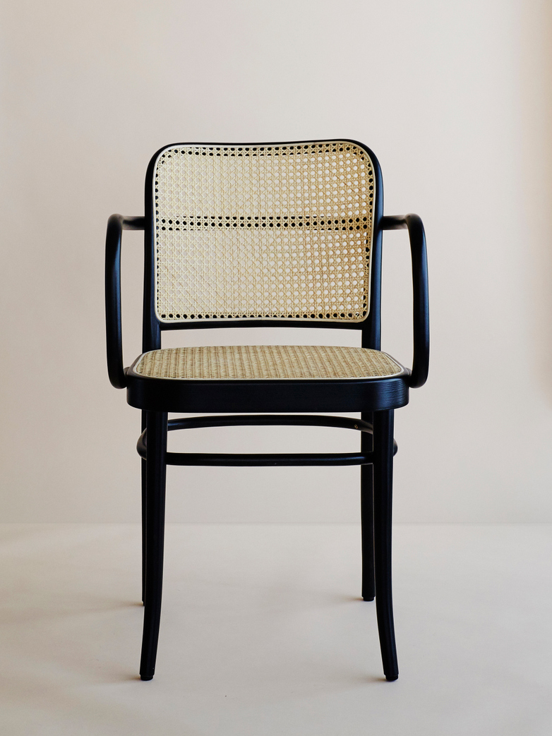 Armchair No 811 – Black – Cane
