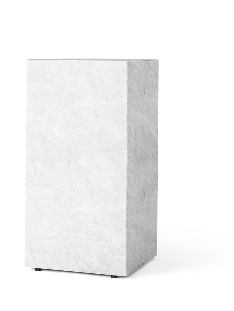Plinth Tall White Marble