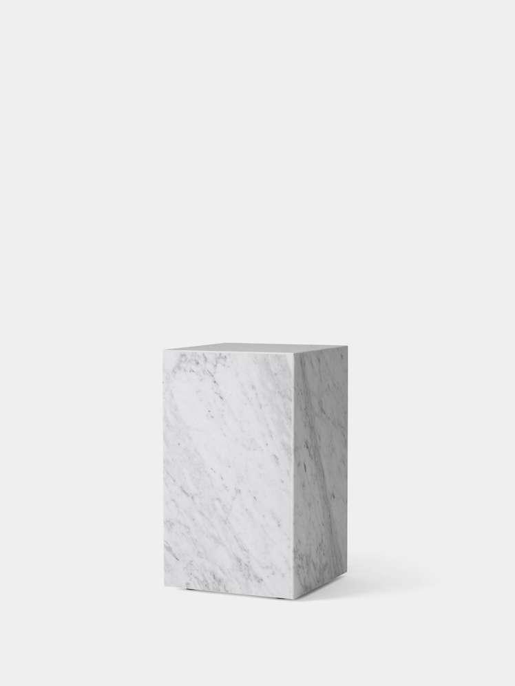 Plinth Tall - Carrara Marble