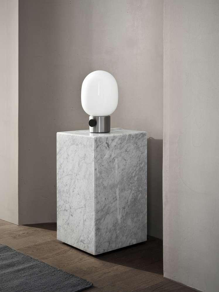 Plinth Tall White Marble