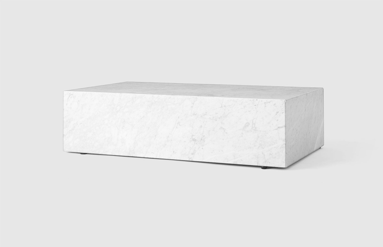 Plinth Low White Marble
