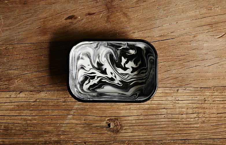 Marble Black Small Baking Dish