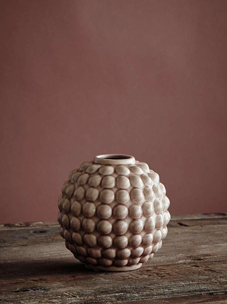 Vase Dotty Round - Soft pink