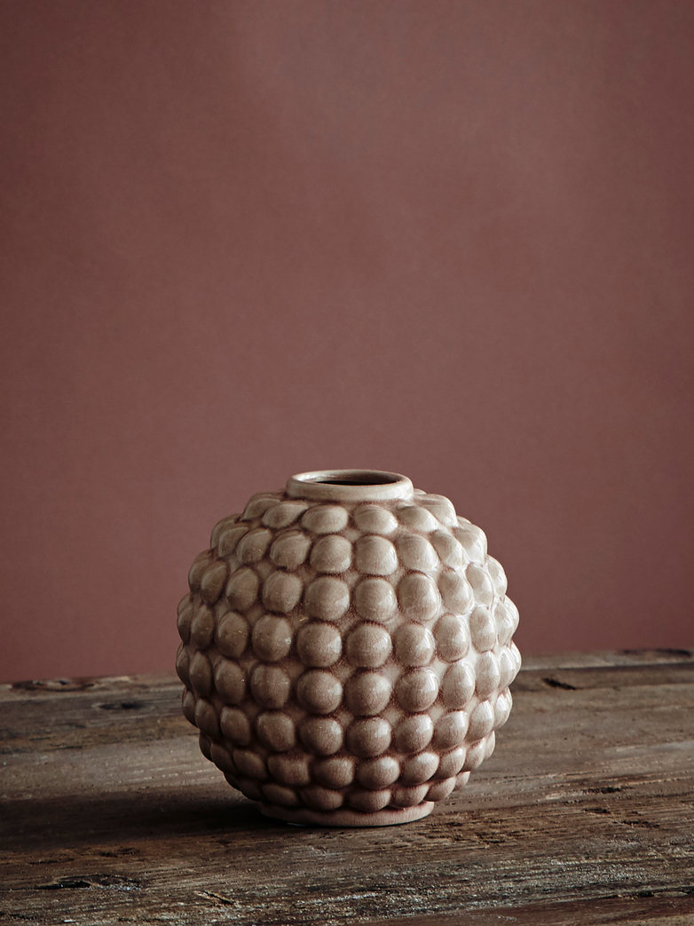 Vase Dotty Round - Soft pink