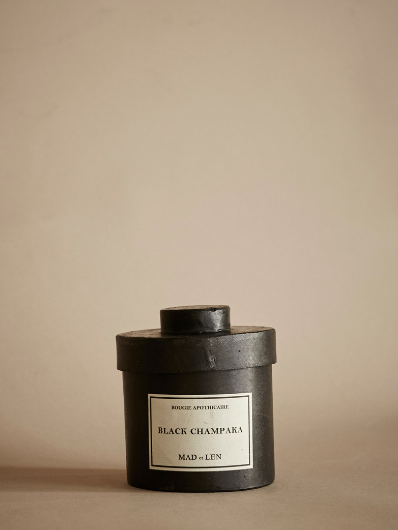 Black Champaka - 300g - Bougie D'Apothicaire