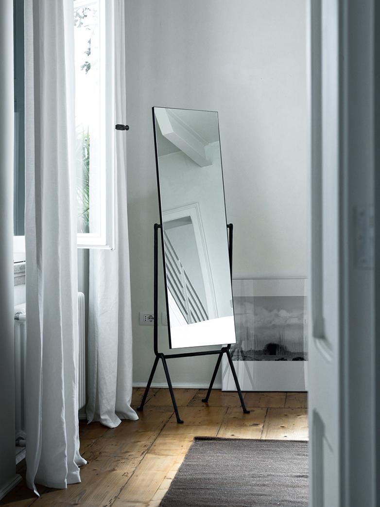 Officina Floor Mirror Black