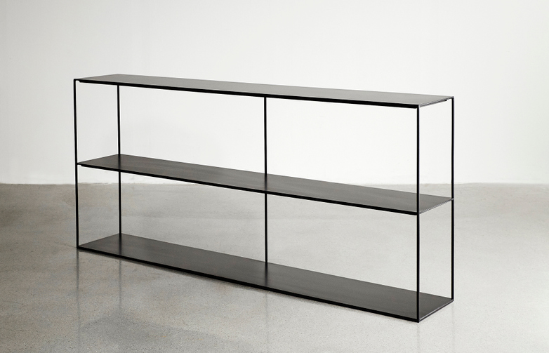 Slim Irony Sideboard - Black - Long